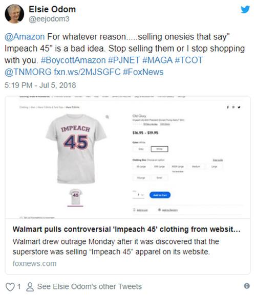 沃尔玛被迫下架反特朗普商品,亚马逊市值将破万亿美金?